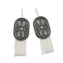 Anatolia Silver Umay Tassel Earrings