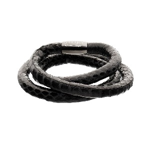 1004881 story black snake skin bracelet