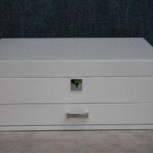 White gloss medium jewellery box