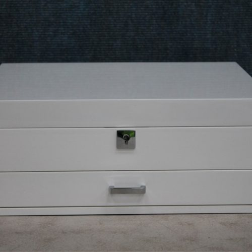 White gloss medium jewellery box