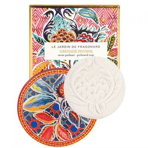 Fragonard Soap & Dish Set Grenade Pivoine