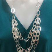 Mexican Silver Layer Necklace KC600