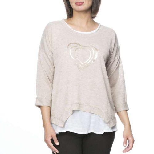 33538 Threadz 2-in-1 Sequin Heart Top