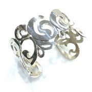 Ironclay Mexican silver swirly cuff