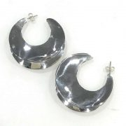 Mexican Silver Sickle earrings
