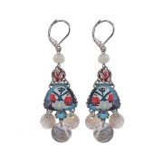 Ayala Bar Cirrus Blue Leaf Earrings