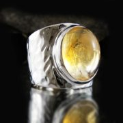 Entia Citrine wide ring