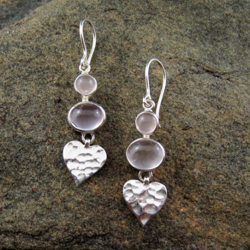 Entia Rose Quartz earrings