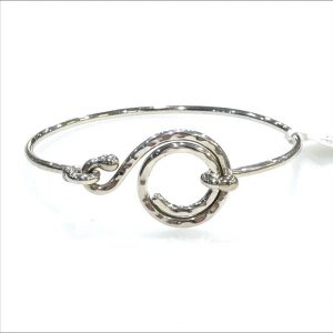 Ironclay Silver Swirl Bangle