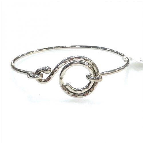 Ironclay Silver Swirl Bangle