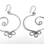 Mexican Silver curly earrings AN274