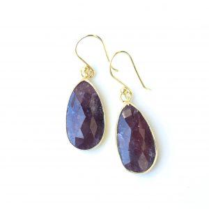 Anatolia Red Sapphire Earrings
