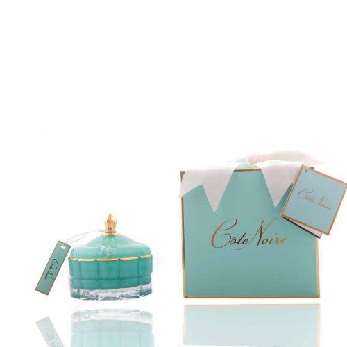 Cote Noire Art Deco candle Blue