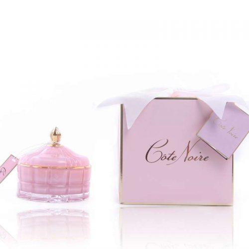 Cote Noire Art Deco candle Pink