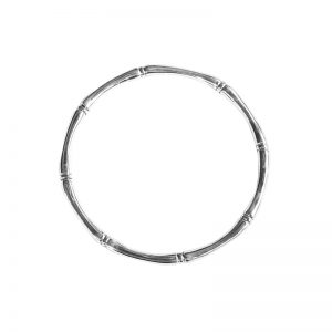 Murkani Bamboo round bangle Sterling Silver