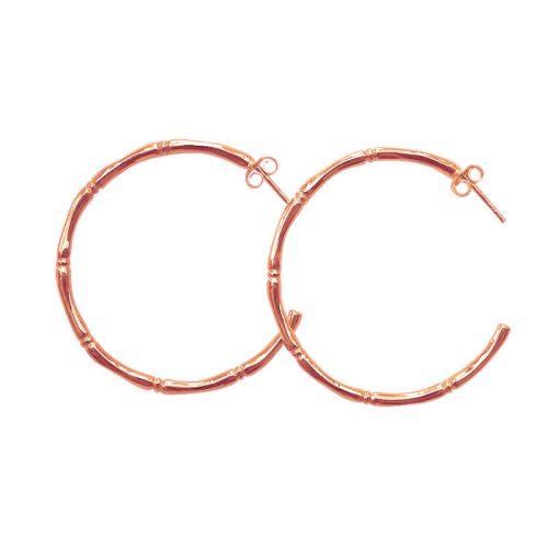 Bamboo-Hoop-Earrings-Rose-Gold