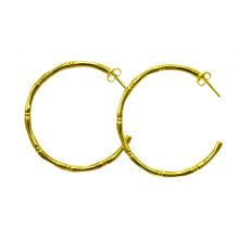 Murkani Bamboo Hoop Earrings Gold
