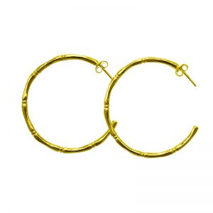 Murkani Bamboo Hoop Earrings Gold
