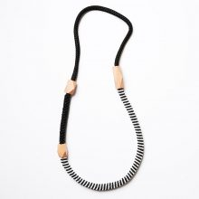Jagger Black Rope necklace