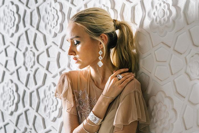 Murkani Goddess hanging earrings Sterling Silver