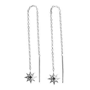 Murkani Falling star earrings Sterling Silver