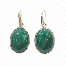 Preyas Malachite Oval earrings