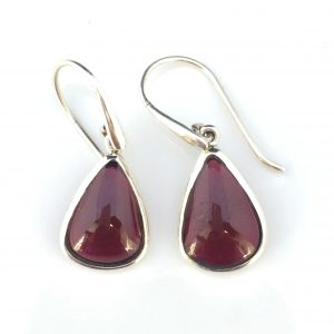 Preyas Garnet Earrings Pear