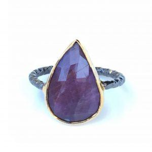 Anatolia red sapphire ring