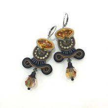 Dori Csengeri Black Gold Earrings ASP/E752