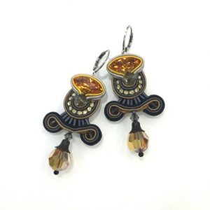 Dori Csengeri Black Gold Earrings ASP/E752