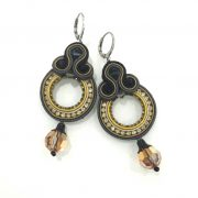 Dori Csengeri Black Gold round Earrings ASP/E753