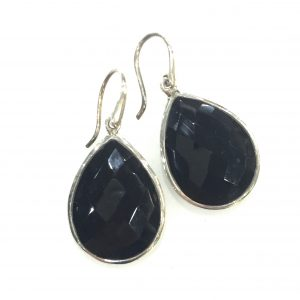 Preyas Black Onyx Earrings Pear