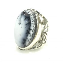 Preyas Dendritic Opal Ring oval