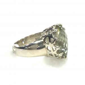 Preyas Green Amethyst Ring