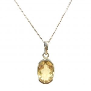 Preyas Citrine Pendant Necklace