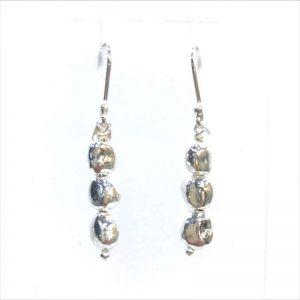 Mexican Silver Pebble Drop Earring