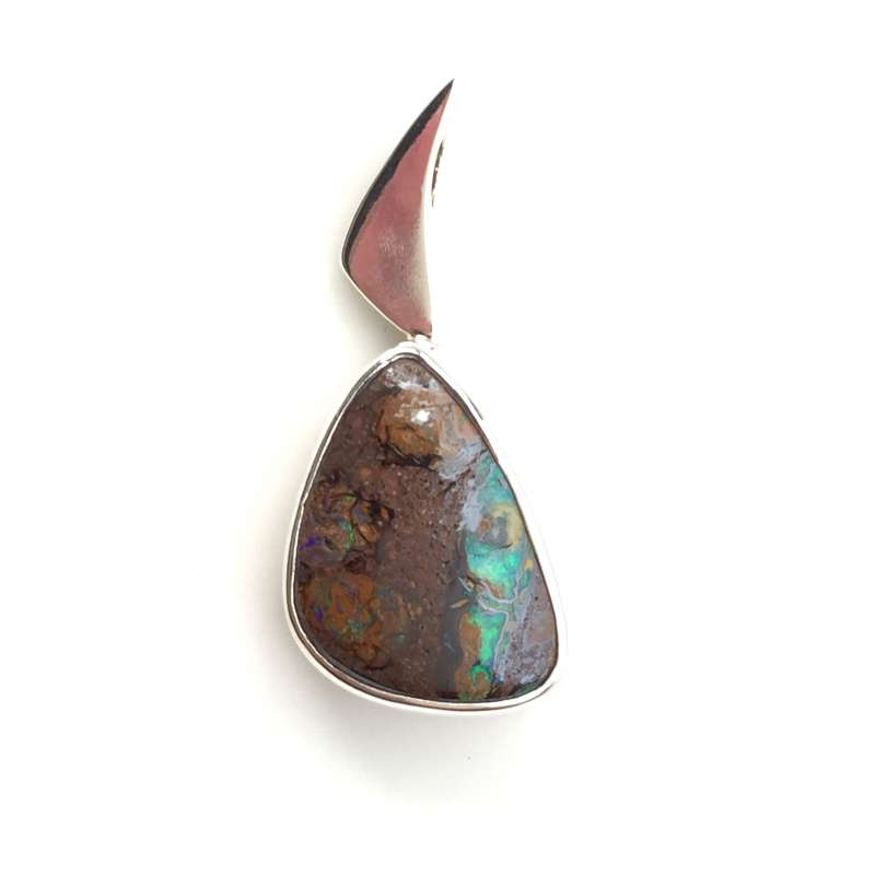 boulder opal solid green coloured sunriseopals products of pendant multi pastel copy