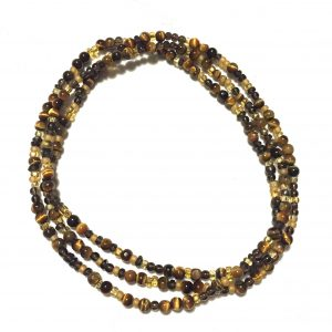 Tiger Eye & Smoky Quartz necklace