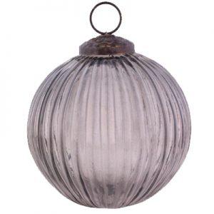 Horgans Black glass round Bauble large