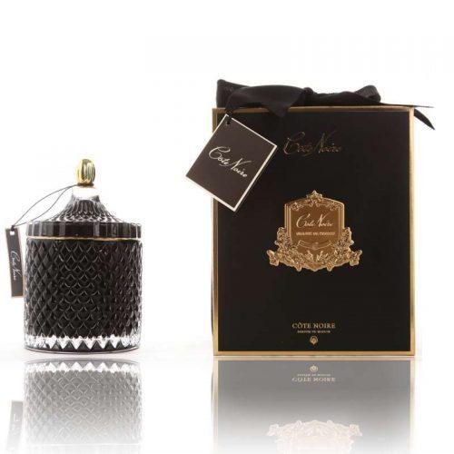 Cote Noire Art Deco candle large Black