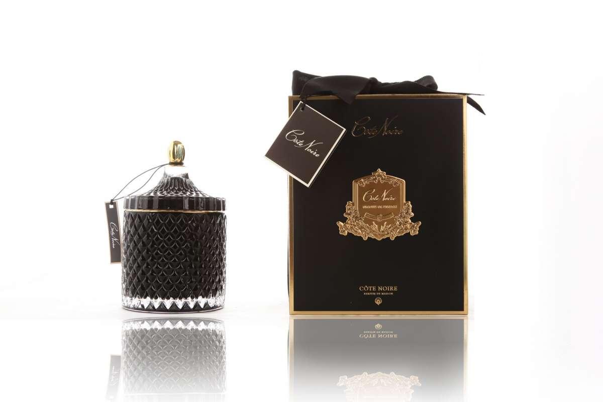 Cote Noire Art Deco Candle Large Black Seraph Jewellery