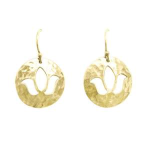 Murkani Lotus earrings Gold
