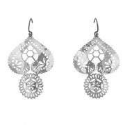 Murkani Lace Doily earrings Sterling Silver