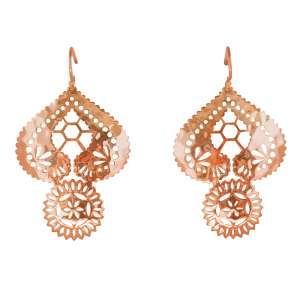 Murkani Lace Doily earrings Rose Gold