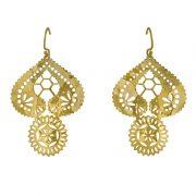 Murkani Lace Doily earrings Gold