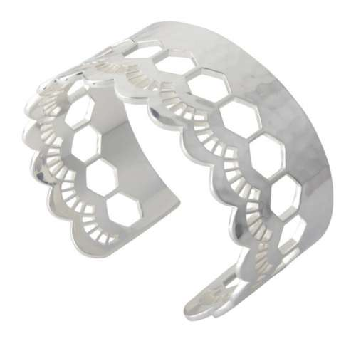 Murkani Lace edge open cuff Sterling Silver