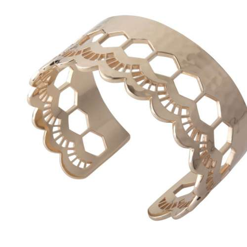 Murkani Lace edge open cuff Rose Gold