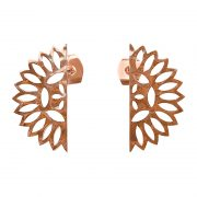 Murkani Lace edge small earrings Rose Gold