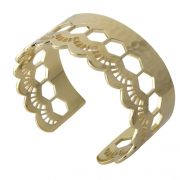 Murkani Lace edge open cuff Gold
