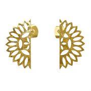 Murkani Lace edge small earrings Gold